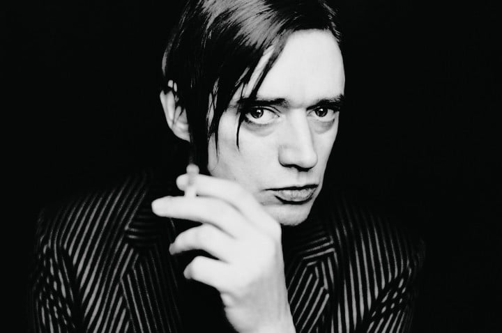 Blixa Bargeld. Portrait by photographer Morten Larsen