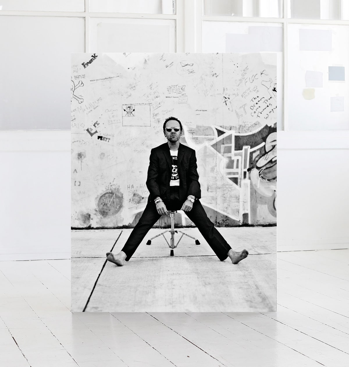 Lars Ulrich, print by photographer Morten Larsen